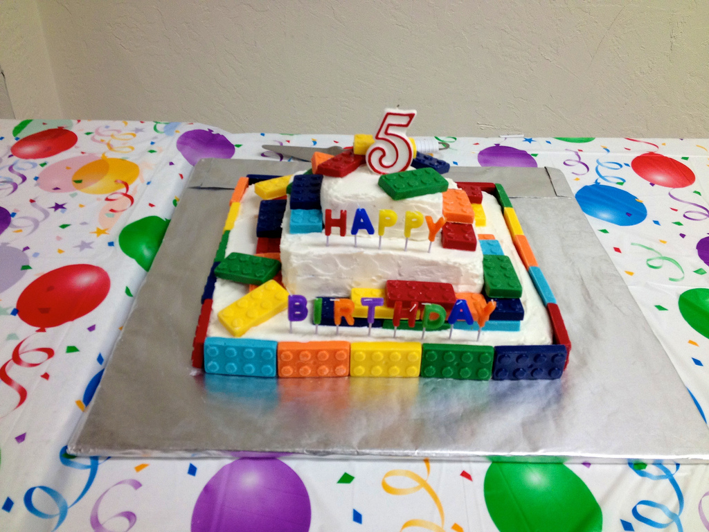 Birthday Homemade Lego Cake