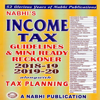 Download Free Income Tax Guidelines and Mini Ready Reckoner 2018-19 and 2019-20 Book PDF
