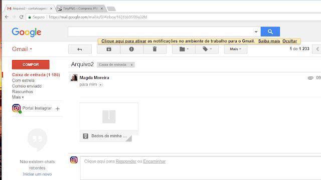 Baixando o arquivo no Email