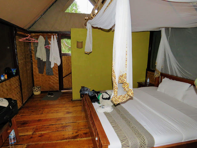 Inside the Tent at Bush Lodge in Uganda