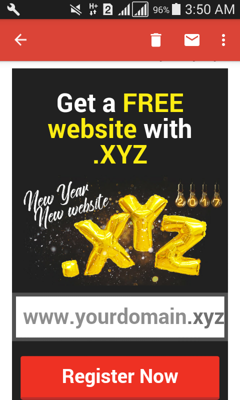 Get Free  xyz domain in 2017 With New Year And New Domain | Toxic