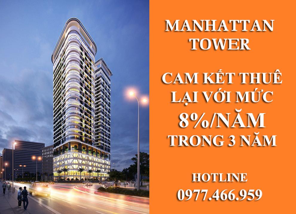 Cam kết thuê lại lên đến 8%/năm - Manhattan Tower