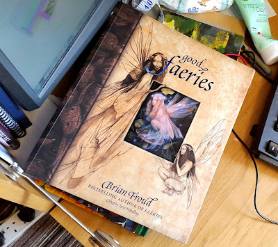 Whoopidoooings: WOYWW, What's On Your Workdesk Wednesday - Brian Froud - Good Faeries Bad Faeries