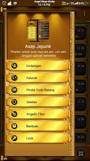 BBM Mod BLACK Gold Angelic Versi terbaru apk