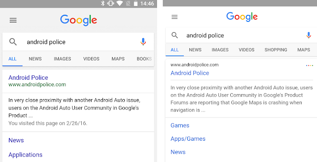 Google Appears to be Testing a New search results layout