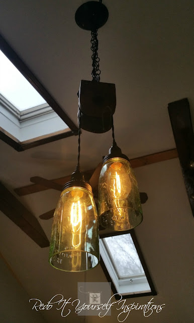 Pulley Light Fixture-Redo It Yourself Inspirations