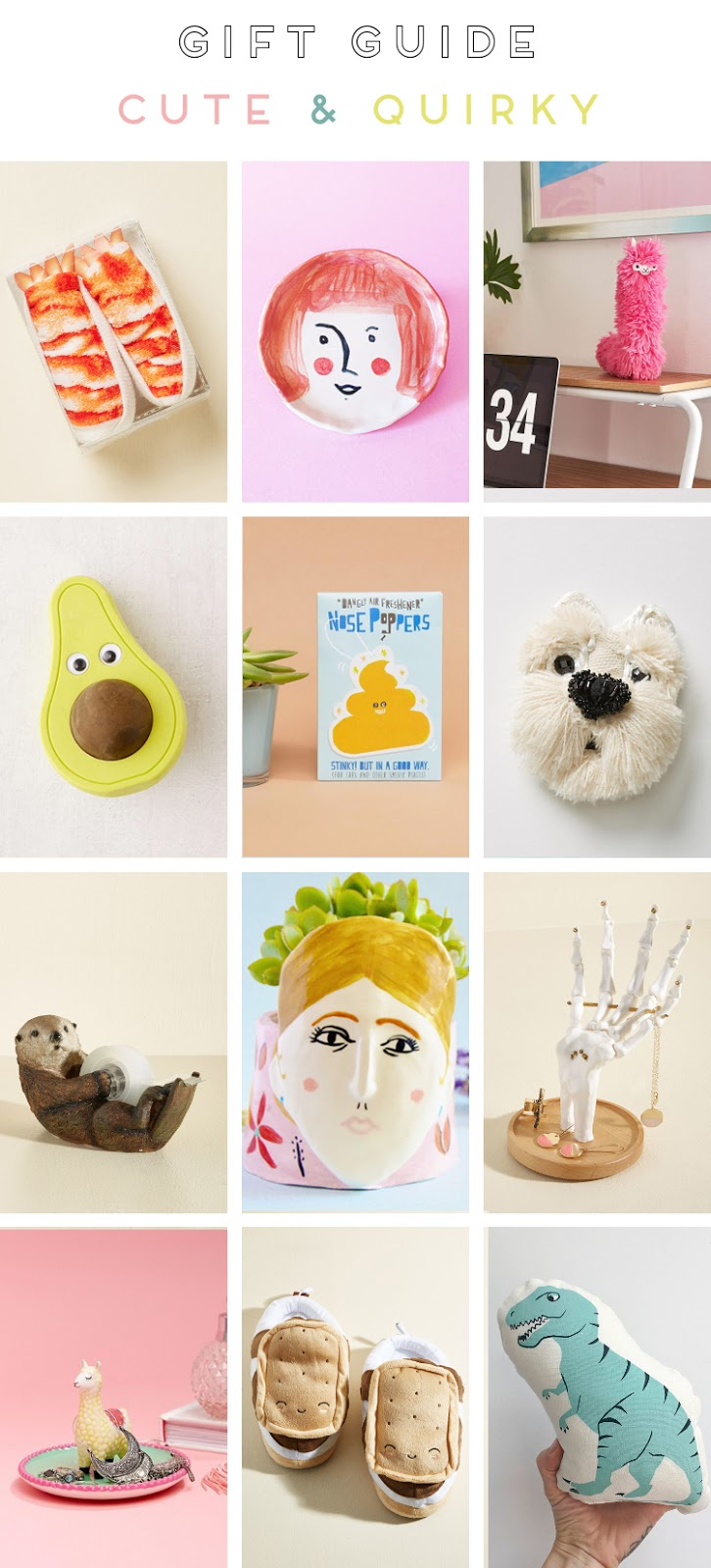 HOLIDAY GIFT GUIDE - CUTE & QUIRKY.