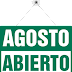 Tapicero abierto en Agosto