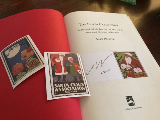 Buy a copy of The Santa Claus Man by Alex Palmer and get a free signed bookplate!