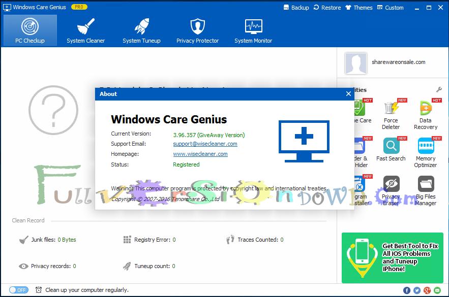 Tenorshare Windows Care Genius Full Version