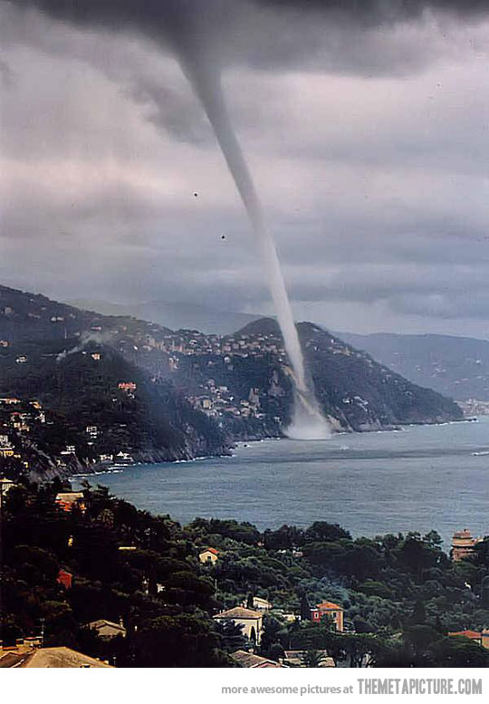 waterspout in italy