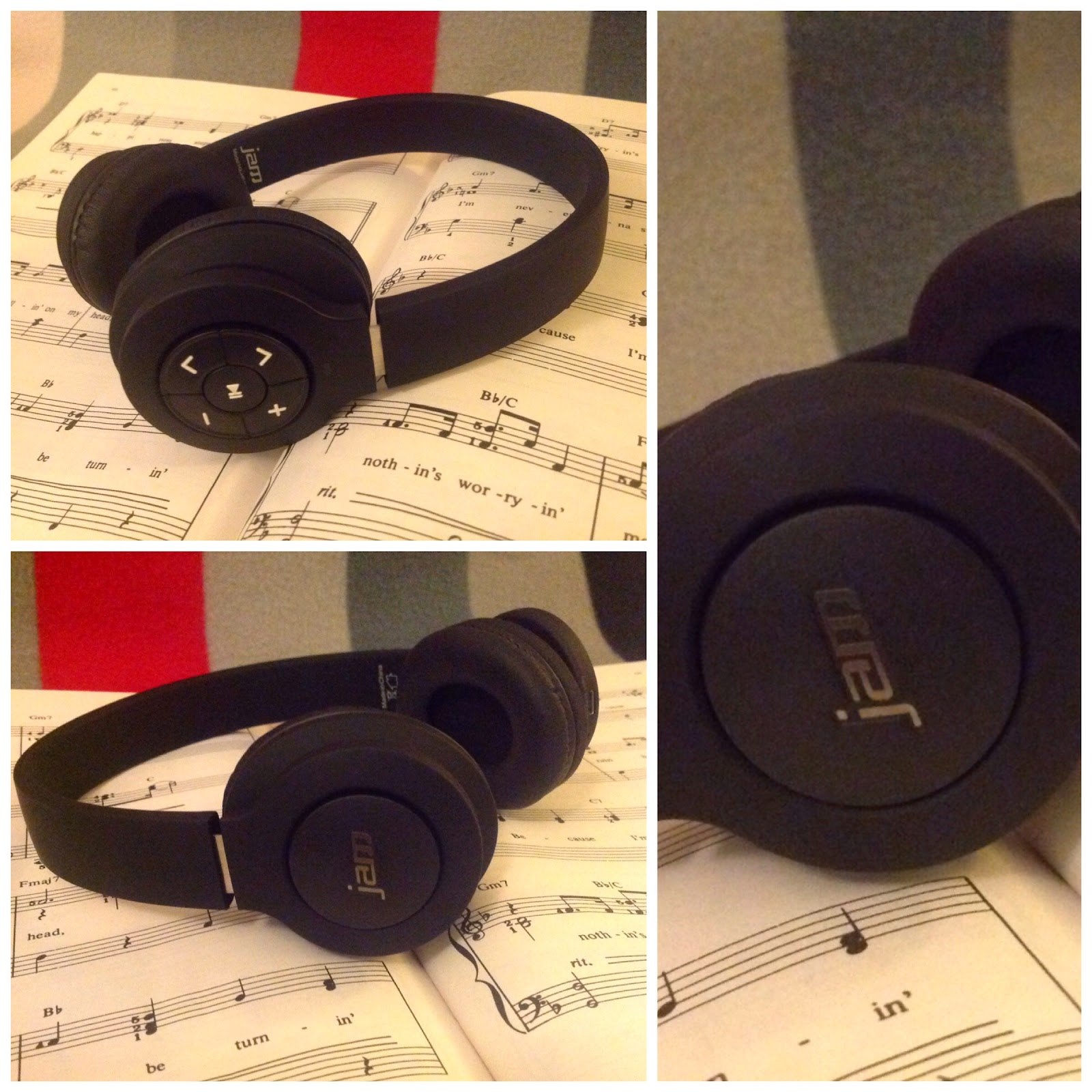 Collage of Jam Audio bluetooth headphones