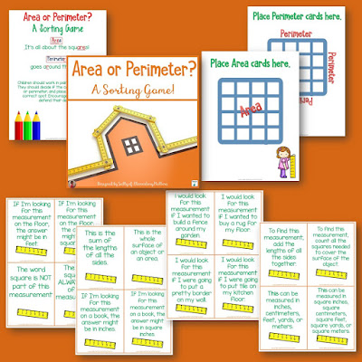 "Area or Perimeter? Ever notice how kids have a hard time keeping track of which meaning goes with the word ""area"" and which meaning goes with the word ""perimeter""? Here are some brain compatible tips!"