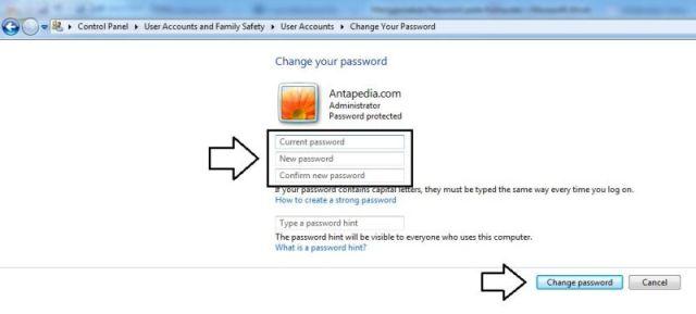 Menggunakan Password pada Komputer