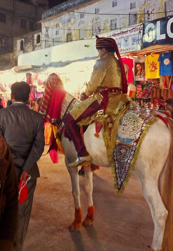 Bridegroom on a horse