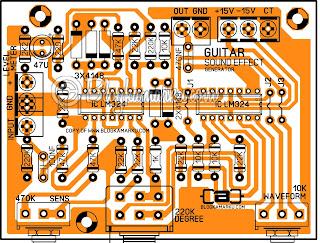 PCB Effect Suara untuk Gitar Sound Generator