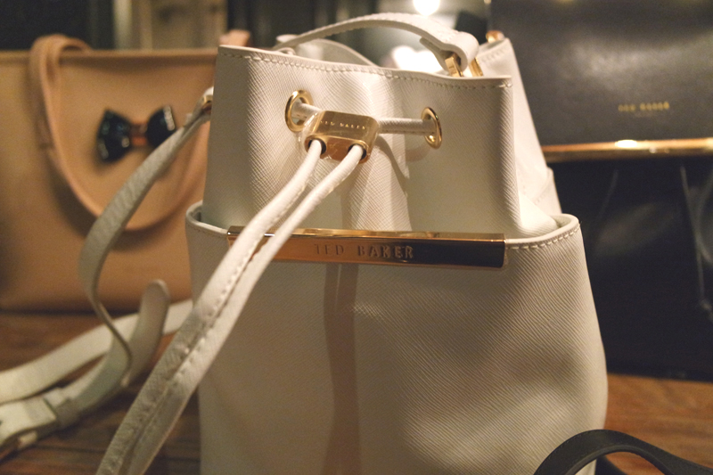 Ted Baker SS16 White bucket bag
