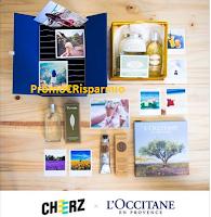 Logo Concorso ''Cheerz & L'Occitane 2017'' : vinci gratis cofanetto di prodotti