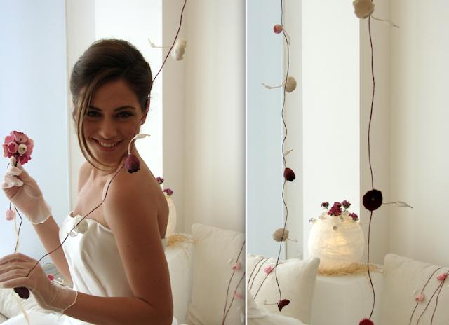 Ghirlande di fiori di carta per matrimonio green, cerimonie, vetrine, eventi.