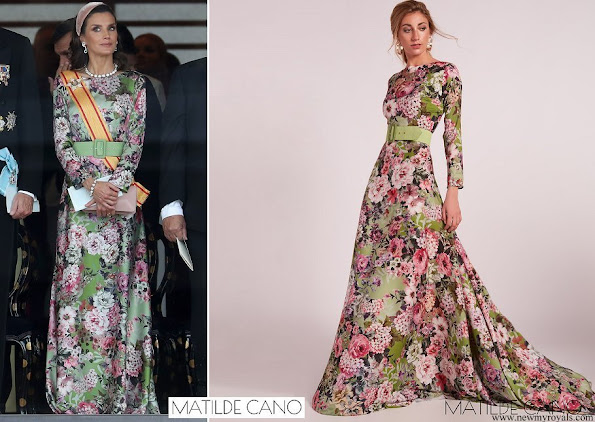 Queen Letizia wore Matilde Cano floral print maxi dress