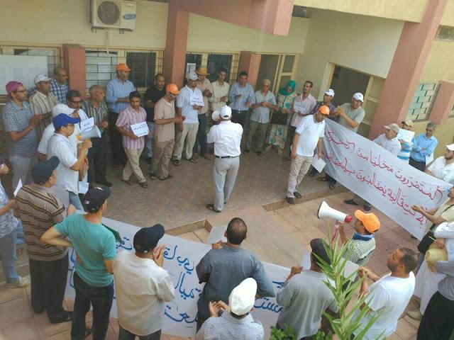 المتضررون من الحركات الإنتقالية بالفقيه بن صالح ينفذون الإعتصام والوقفة الإحتجاجية
