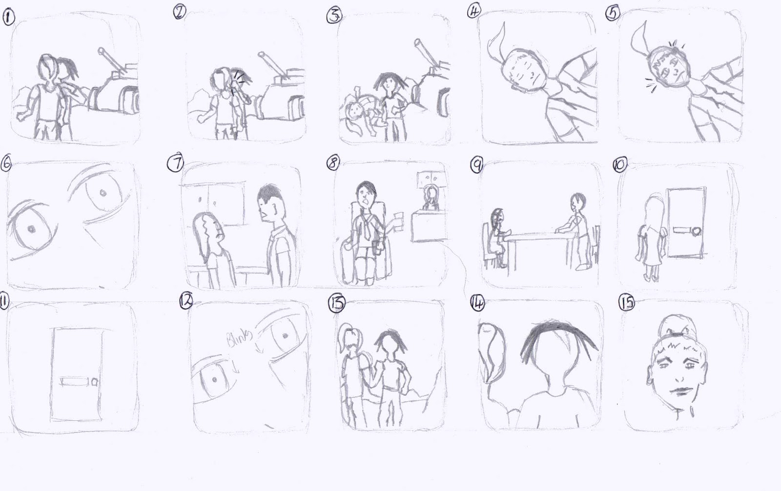 Scolded: Thumbnail storyboard