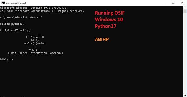 Cara menggunakan OSIF di Windows.