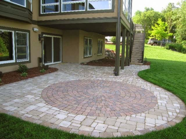Circle Paver Patio Designs Patterns