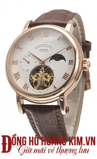 đồng hồ cơ dây da đẹp