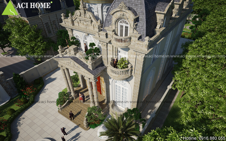 Thiết kế lâu đài cổ điển biệt thự Thu Cúc