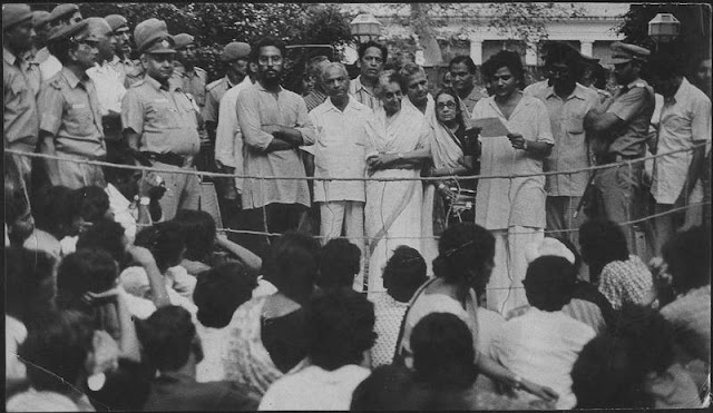 An old black and white photo of JNU students led by CPI leader Sitaram Yechury and agitating in the presence of Indira Gandhi has surfaced.   The photo was published by The Hindustan Times which ran an interview with Sitaram Yechury on Sunday. After the photo generated online interest, former JNU faculty member Chaman Lal gave its background.