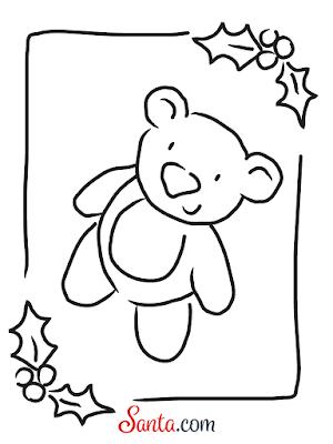 Santa.com Teddy Bear Printable