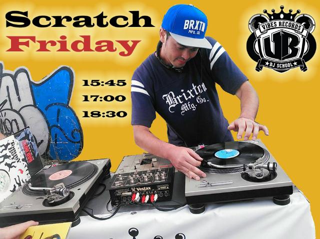 毎週金曜日開催!DJの技「スクラッチ」の体験が出来るプレミアムフライデー限定開催レッスンのイメージ画像です!