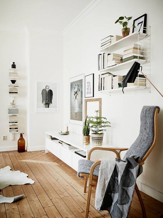 Bookcase styling tip | Stadshem