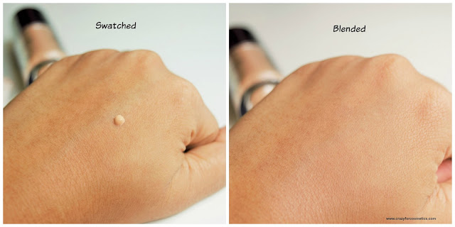 Sephora Brightening & Hydrating Foundation shade Medium swatched