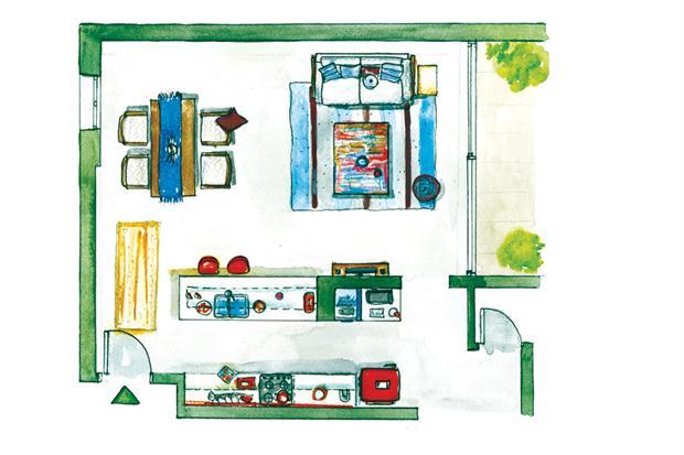 cozinha azul turquesa, blog achados de decoração