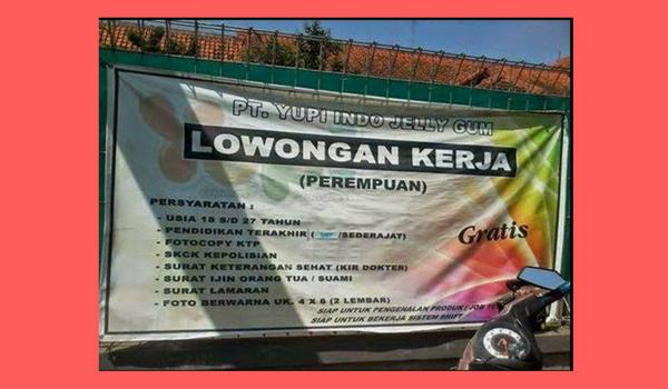 Info Lowongan Kerja PT.YUPI INDO JELLY GUM Bogor,Jawa barat