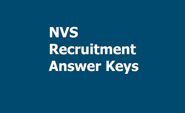 NVS Recruitment Answer Keys 2019 for Posts of Librarian, PET, Misc. Category & PGT Maths