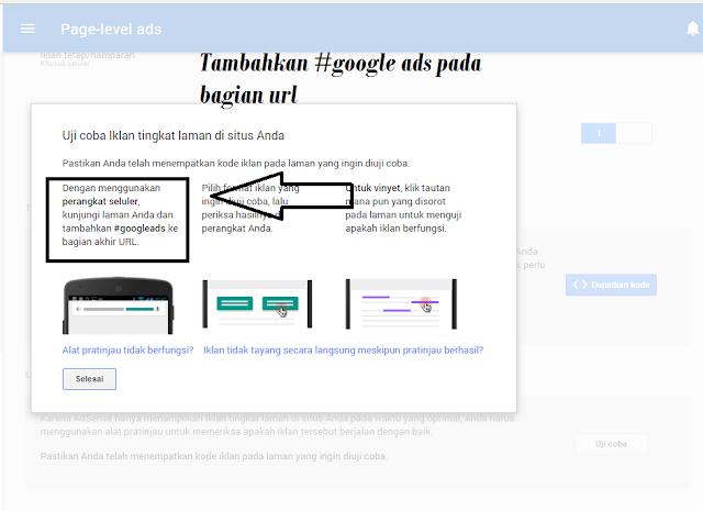 Cara pemasangan iklan page-level ads adsense di blog