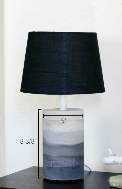how to make a concrete table lamp