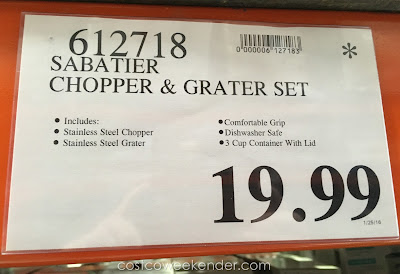 Deal for the Sabatier 3-piece Stainless Steel Food Chopper & Grater Set at Costco