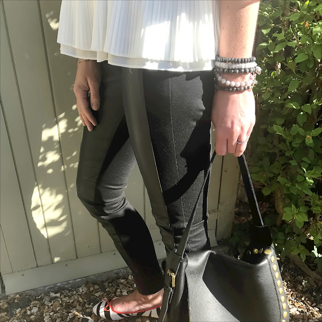 my midlife fashion, marks and spencer leather ponte skinny jeans