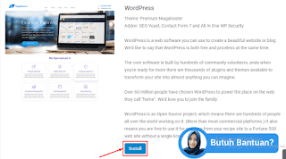 cara install wordpress niagahoster install