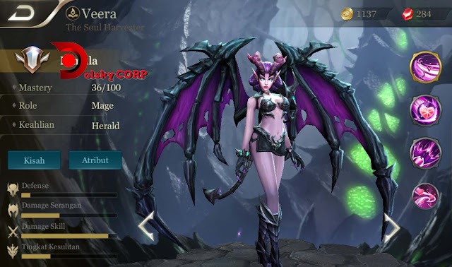 Arena of Valor : Hero Veera ( The Soul Harvester ) Full Attack Builds Set up Gear