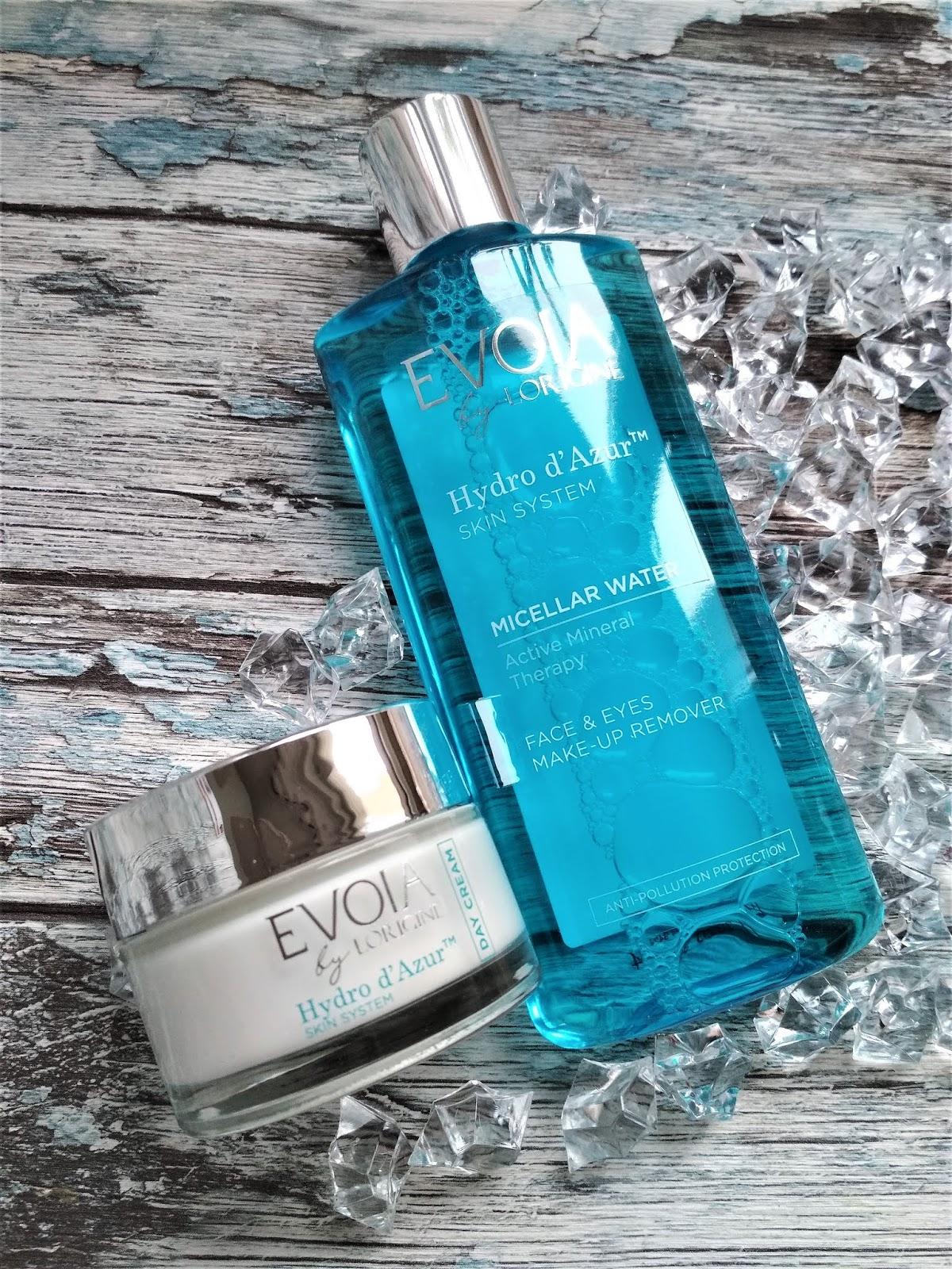 EVOIA by Lorigine Płyn micelarny i krem na dzień Hydro d'Azur, evoia, lorigine, lorigine pielęgnacja, pielegnacja, kosmetyki nawilżające