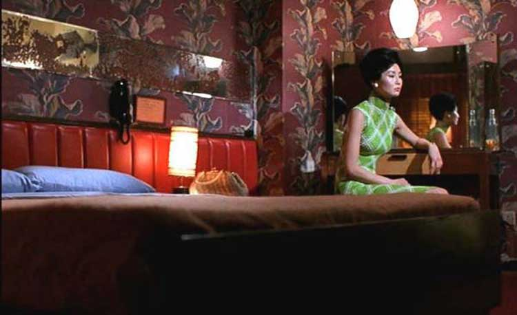 The gorgeous set design of Wong Kar Wai's In the Mood for Love.