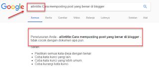 Cara Memposting Post Yang Benar Di Blogger biar diterima adsense