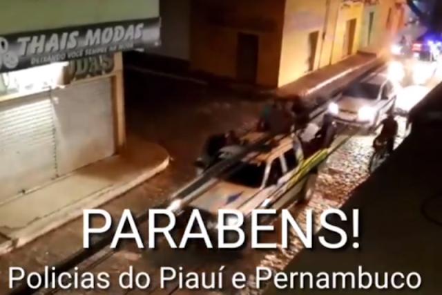 Policia prende envolvidos em roubos em Caldeirão Grande e Marcolândia e desfila com presos em carroceria de veículo;