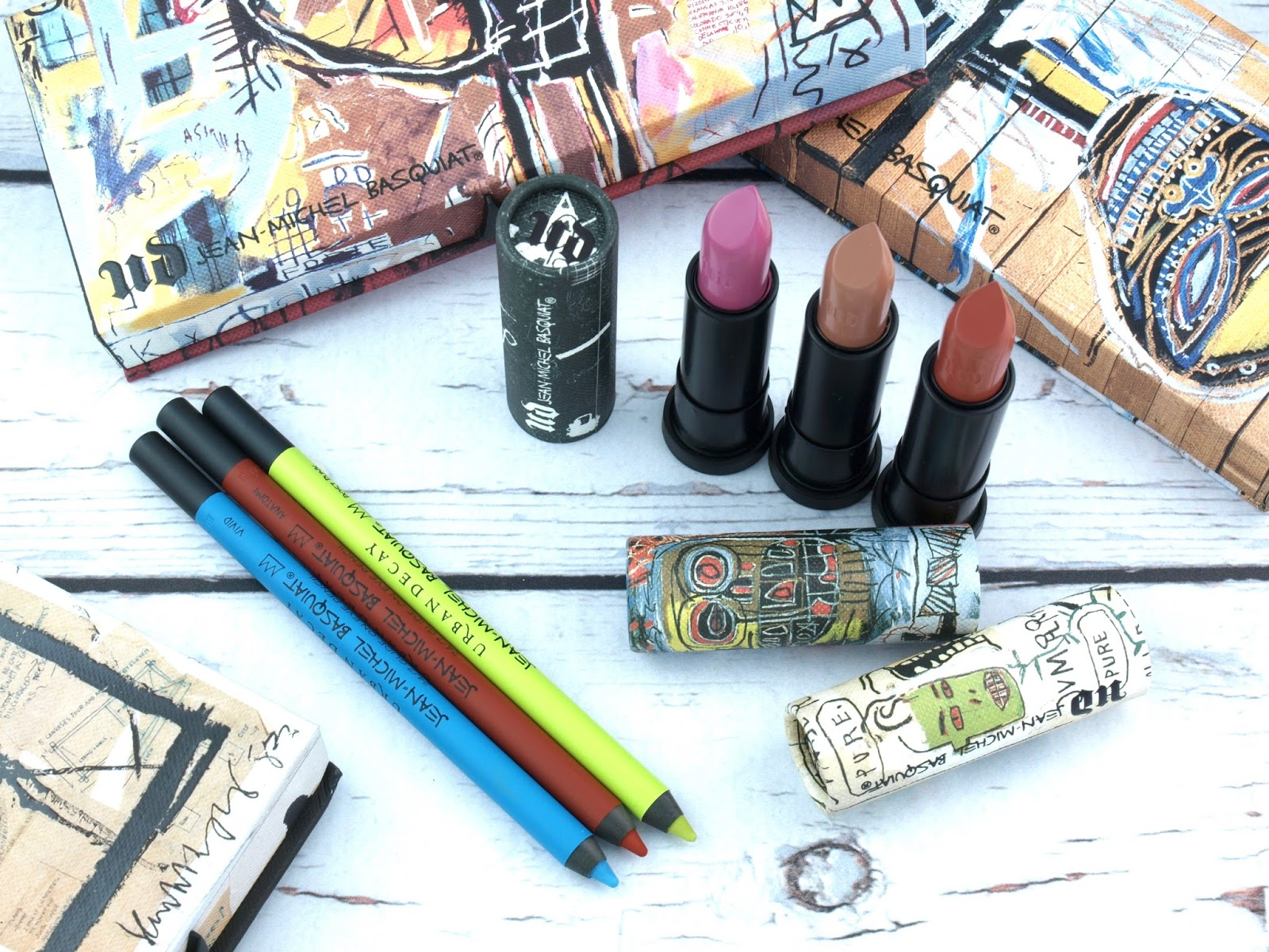 Urban Decay x Basquiat Collection | 24/7 Glide-On Eye Pencil & Lipsticks: Review and Swatches