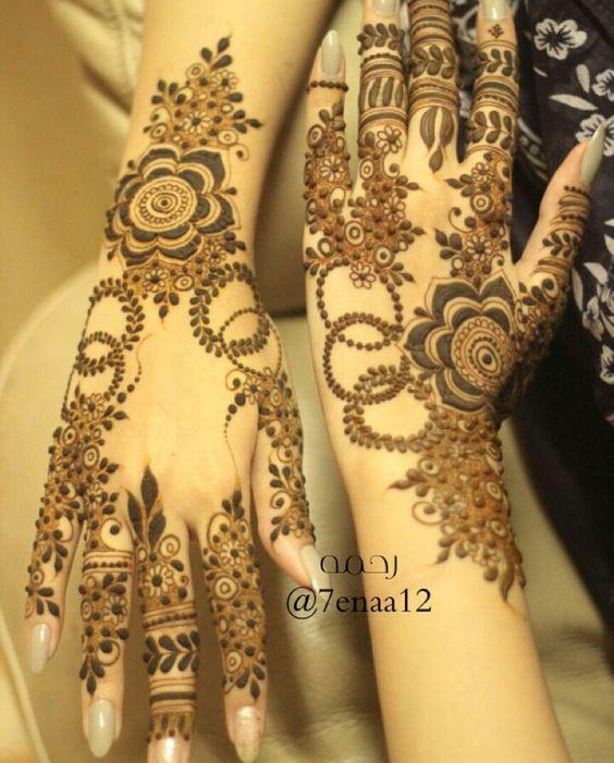 Big Flower Mehndi Design : Stunning flower mehndi designs for eid bling sparkle
